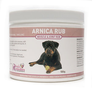 Arnica Rub is a soothing homeopathic rub for dogs and cats with soreness, swellings, inflammation or bruising. It is a safe and effective remedy for immediate relief. It also speeds up the healing process. OnTotalWellness distributing for Ontario