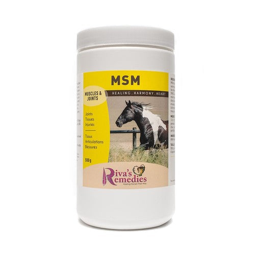 MSM is an organic sulphur compound which shares some of the same properties as DMSO. Sulphur is an important element for muscles, joints, skin and hooves. It supports the healthy function of the musculo-skeletal system. OnTotalWellness distributing for Ontario