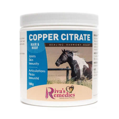 Copper for Horses supports iron metabolism, connective tissue, joint and bone health, skin, hair coat, hoof health, the nervous system and the immune system. OnTotalWellness distributes in Ontario