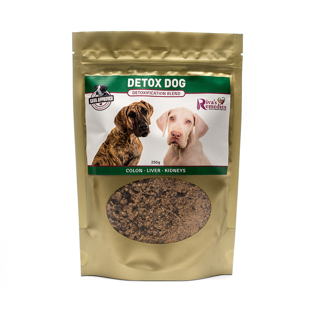 Detox Dog is a very specific herbal blend used for dogs that show signs of toxicity such as joint inflammation, chronic skin conditions, poor hair coat, and low energy. This product is great for dogs that have had diets consisting of low-quality kibble or have had a history of prescription medication use. OnTotalWellness distributor for Ontario