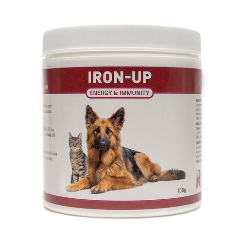 Iron is an essential nutrient for dogs and cats who are suffering from Anemia, fatigue or chronic infections. It will help their body transport more oxygen, rebuild the immune system and improve circulation. OnTotalWellness distributing for Ontario