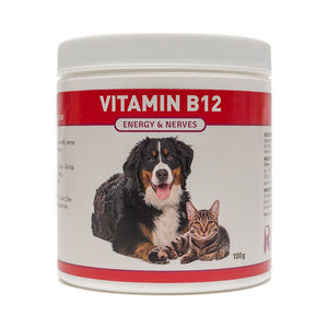 Vitamin B12 is the perfect nutrient choice for dogs and cats who are showing signs of staggering, muscle weakness, seizures, low energy levels or depression. B12 also helps to resolve digestive issues such as gas, diarrhea and constipation. OnTotalWellness distributing for Ontario