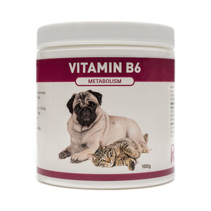 Vitamin B6 is for dogs and cats with insulin resistance, diabetes or Cushings disease. If your pet is showing signs of weight gain, hair coat loss, excessive thirst or is panting more than usual B6 is an excellent choice as a supplement for thyroid. OnTotalWellness distributing for Ontario