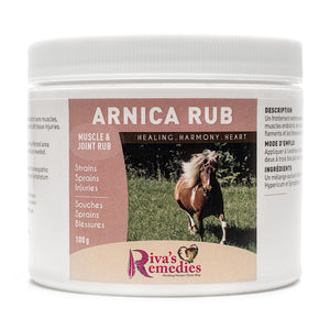 Arnica Rub for Horses is a soothing external rub for sore muscles, bruising, swellings and soft tissue injuries. It is a proprietary blend of homeopathic Arnica, Hypericum and Symphytum . OnTotalWellness is shipping locally from Ontario