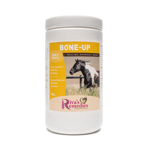 Bone-Up For Horses is an easy to absorb nutritional blend to support bones, joints, cartilage, connective tissue and muscles. It promotes the healthy function of the musculoskeletal system and aids in the recovery of injuries.  Beneficial for: Joint Support, Mobility, injury recovery, and Nutrition. Distributed by OnTotalWellness in Ontario