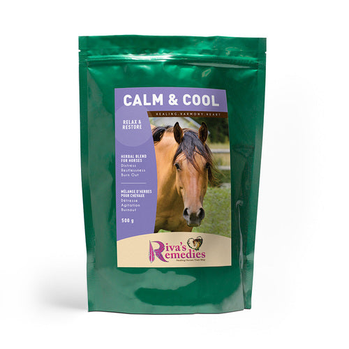 Calm & Cool promotes and maintains naturally calm behaviour in nervous horses. Use for restlessness, irritability, muscle stress, stall confinement, trailering, riding, training and herd separation. Suitable for horses with burn-out and / or prolonged periods of physical and/or emotional discomfort. OnTotalWellness distributes in Ontario