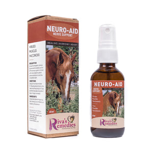 Neuro Aid is a liquid homeopathic formula to promote the healthy function of the nervous system in horses, ponies and donkeys with viral symptoms and /or adverse reactions to vaccines. OnTotalWellness distributing for Ontario