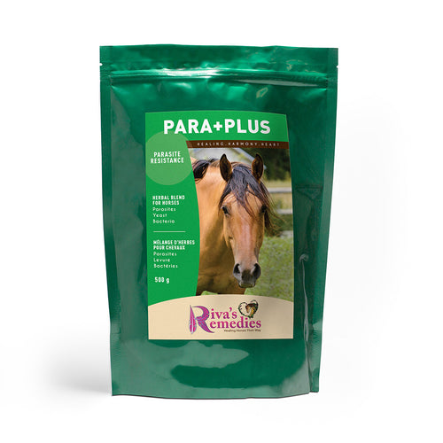 Para+Plus is an herbal blend to support parasite resistance and maintain a healthy intestinal ecosystem. This blend is perfect for horses, ponies and donkeys alike -  it promotes liver, kidney and colon health.OnTotalWellness distributing for Ontario