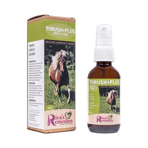 Thrush+Plus is a combination of tea tree oil and calendula tincture to promote healthy hooves. Use on all hoof conditions: thrush, fungus, abscesses, wounds, hoof cracks, white line, soft frogs and /or infections. OnTotalWellness distributing for Ontario