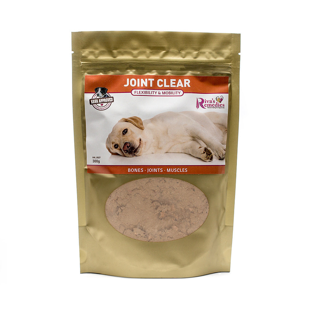 Joint-Clear is a herbal blend for all dogs with symptoms of pain and discomfort from arthritis, hip dysplasia or an injury. OnTotalWellness distributor for Ontario