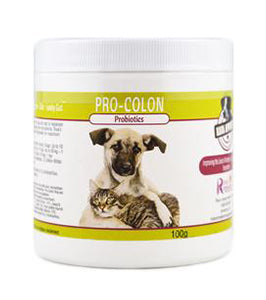 Pro-Colon is a high quality prebiotic and probiotic. It is an ideal choice if your dog or cat suffers from diarrhea, yeast infections or is having trouble gaining weight. Pro-Colon will help replenish friendly bacteria, strengthen their immune system and increase nutrient absorption. OnTotalWellness distributing for Ontario