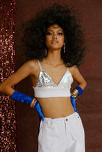 Load image into Gallery viewer, Have Fun Sequin Bra White