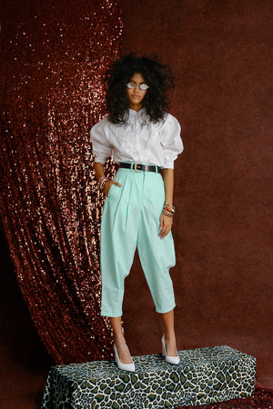Linda Linen Pants Mint Green