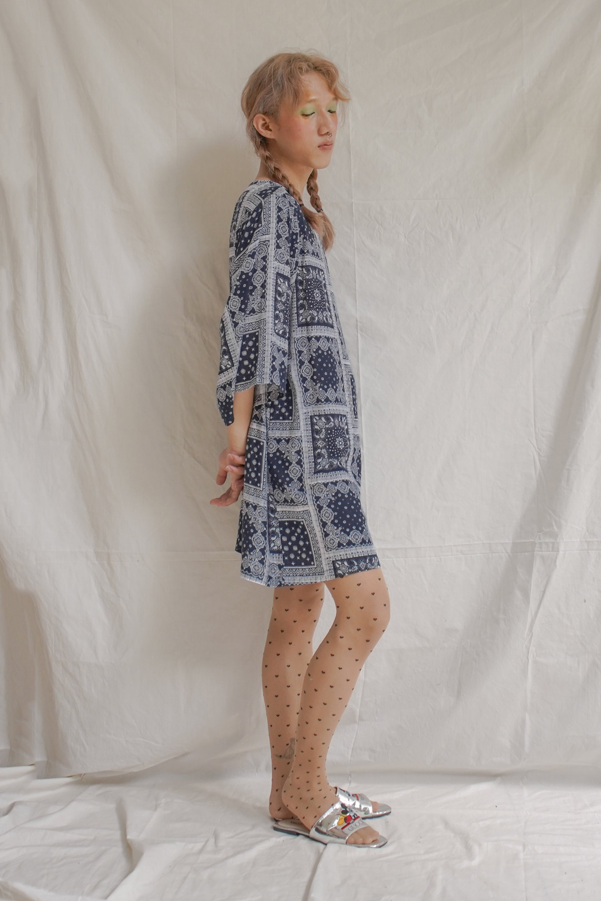 Navy Slow Day Dress Paisley