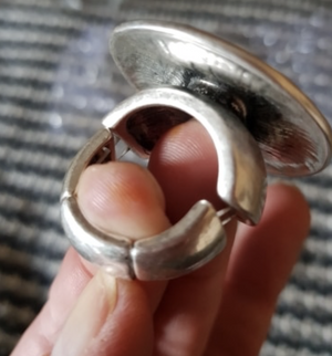 Large Silver Bohemian Wave Ring - coleculture