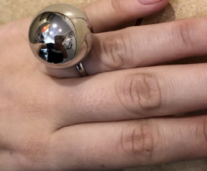 Adjustable Large Metal Ball Ring - coleculture