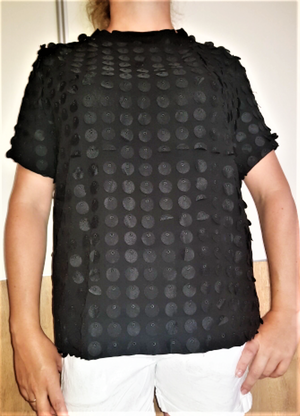 Black Laser Cut Short Sleeve T-shirt - coleculture