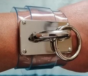 Transparent Punk and Metal Buckle Bracelet - coleculture