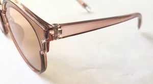 Transparent Champagne Cat Eye Sunglasses