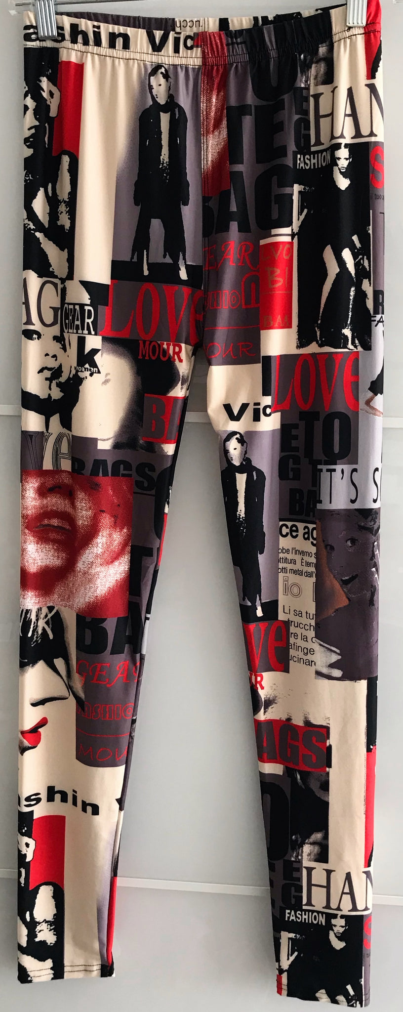 Fashion Magazine Print Leggings