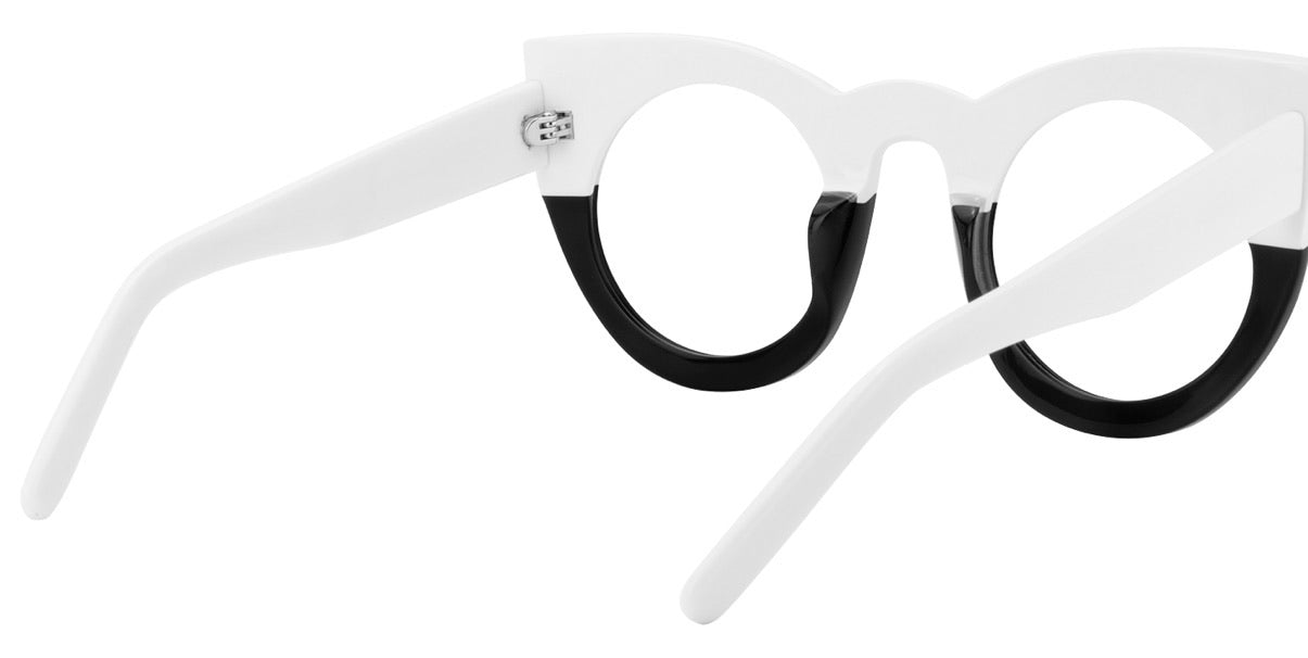 Black and White Cat Eyewear
