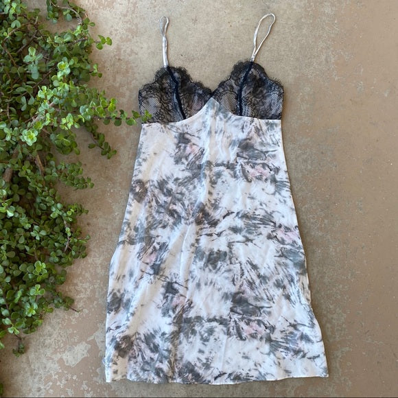 Allsaints Tie Dye Silk Cami Mini Dress, Size Small