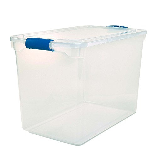 Store Items To-List: Homz Plastic Storage 112 Qt, 2 Pack