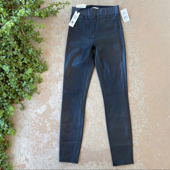 L'AGENCE Rochelle Pull-on Skinny Black Pants, Size XS