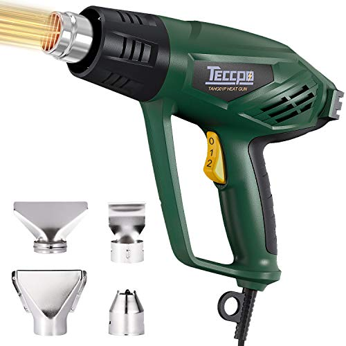 Remove Clearance Stickers: TECCPO 1500W Electric Hot Air Gun
