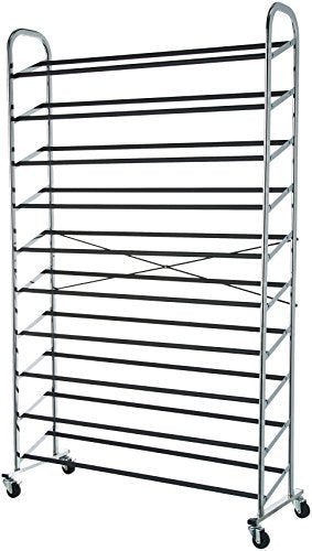 AmazonBasics 50-Pair Shoe Rack Organizer