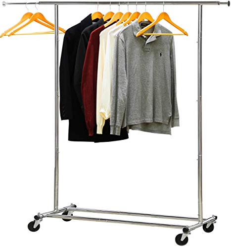 Simple Houseware Rolling Garment Rack