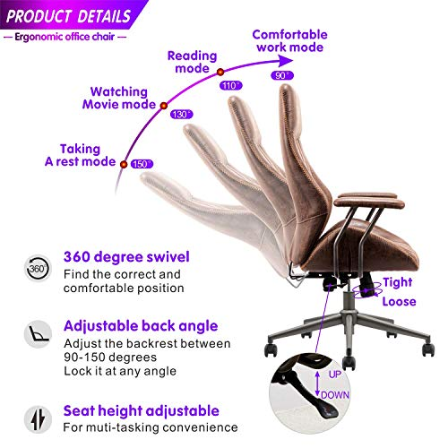 ovios Ergonomic Office Chair in Brown