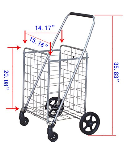 For Sourcing & Transporting Inventory/Packages: Utility Shopping Cart