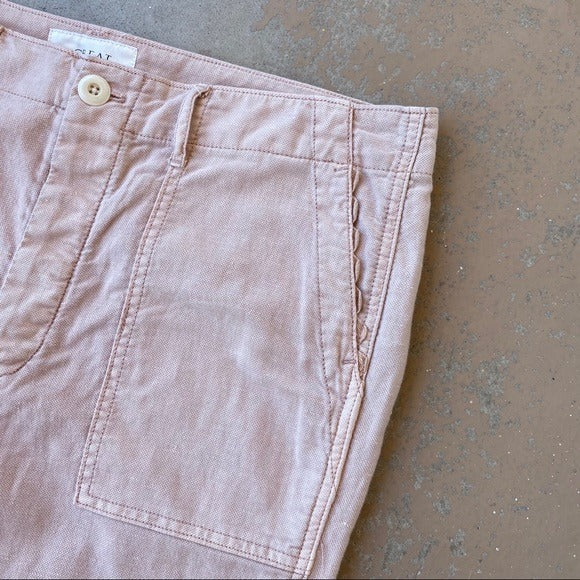 The GREAT. Pink Cropped Pants, Size 31