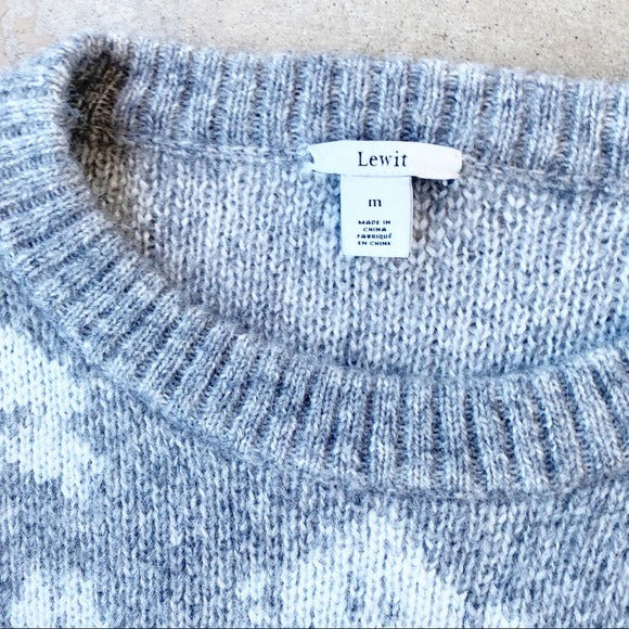 Lewit Wool Blend Sweater, Size Medium