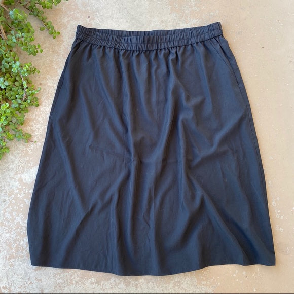 Eileen Fisher Tencel Black Skirt, Size 1X