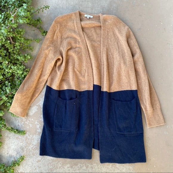 Madewell Color Block Duster Cardigan, Size Large
