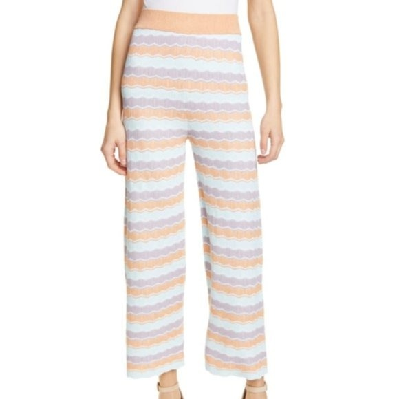 Alice + Olivia Knit Crop Lounge Pants, Size Large