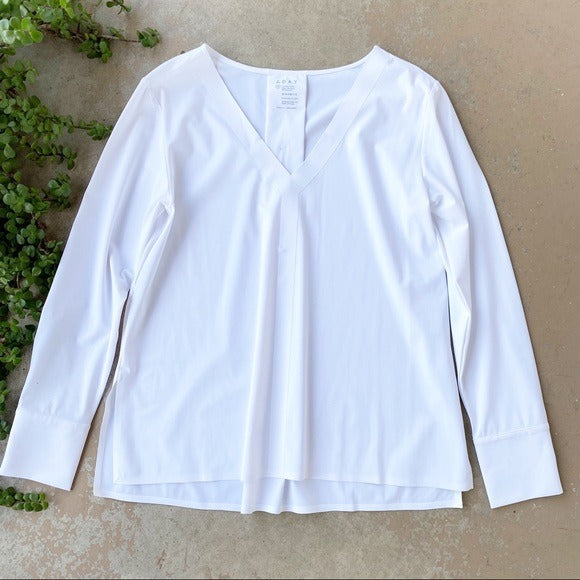ADAY Something Tailored Long Sleeve Shirt in White