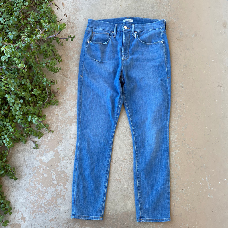Good American Good Legs Crop Jeans, Size 14/32