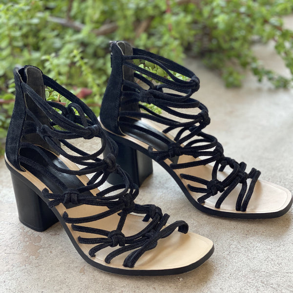 Rag & Bone Suede Leather Block Heel Sandals, Size 38.5 (US 8.5)