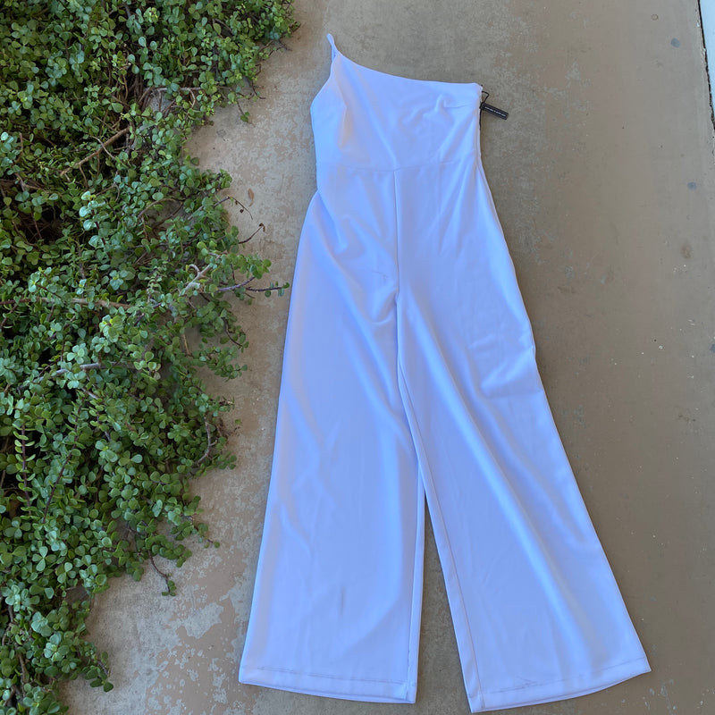 Leith Nordstrom White Jumpsuit, Size Medium