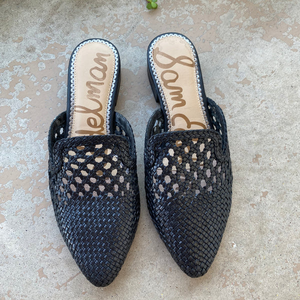 Sam Edelman Wicker Slip On Mules, Size 7.5