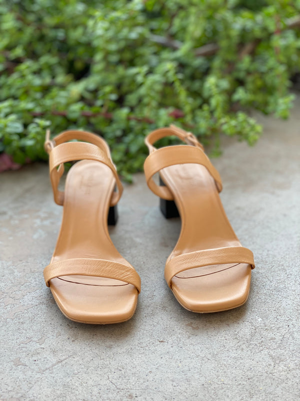 Everlane Tan Block Heel Sandals, Size 8
