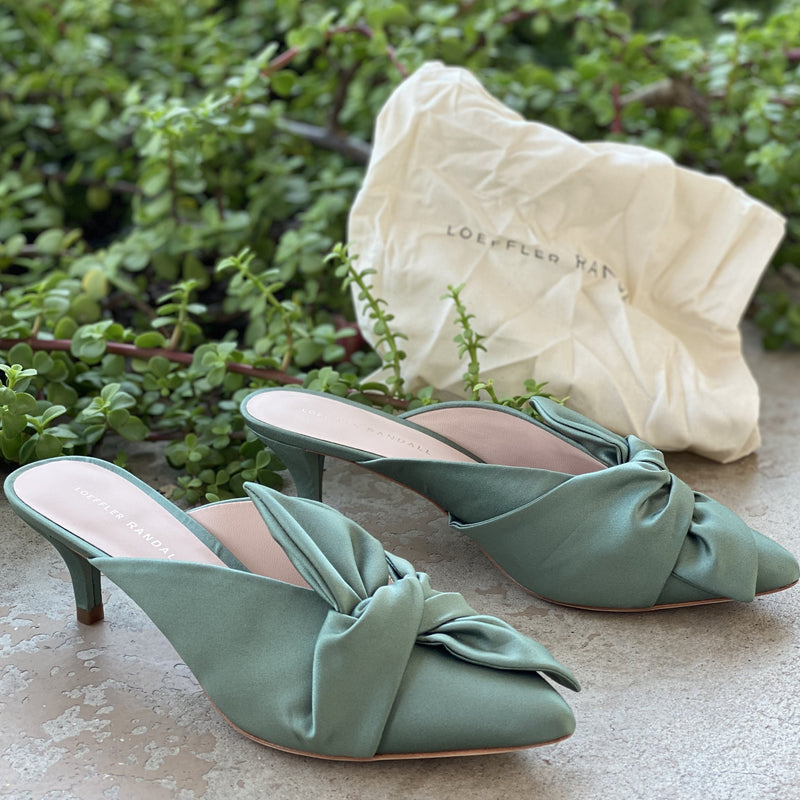 Loeffler Randall Jade Knotted Mules, Size 8.5