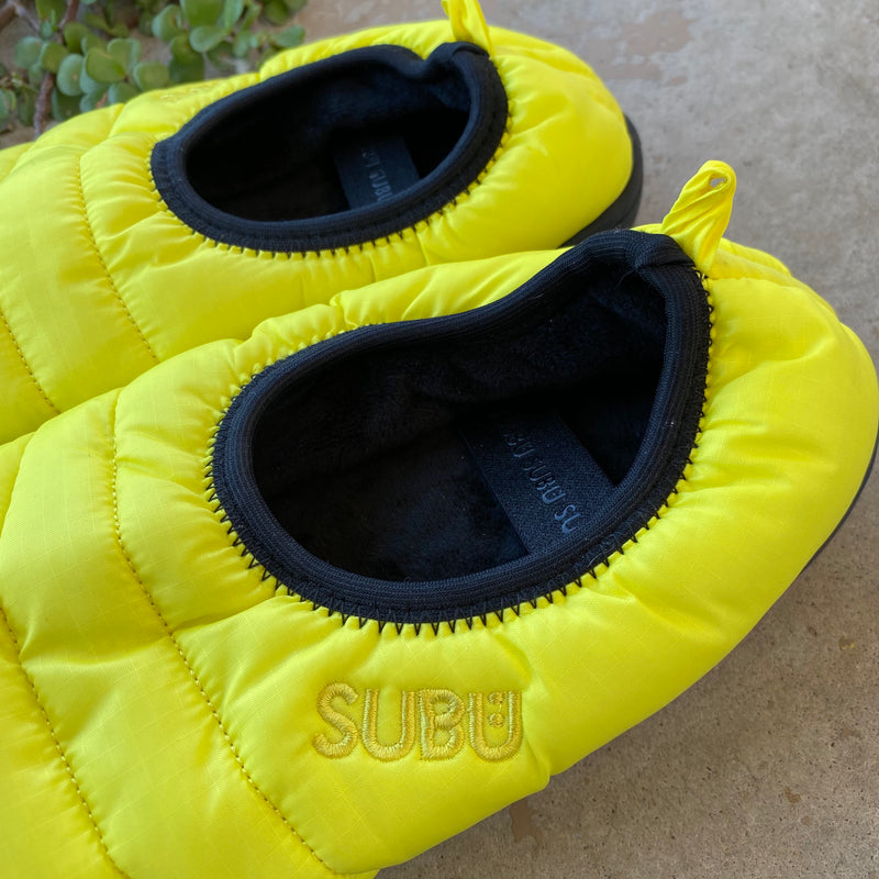 SUBU Yellow Packable Slippers, Size 7.5-9.5