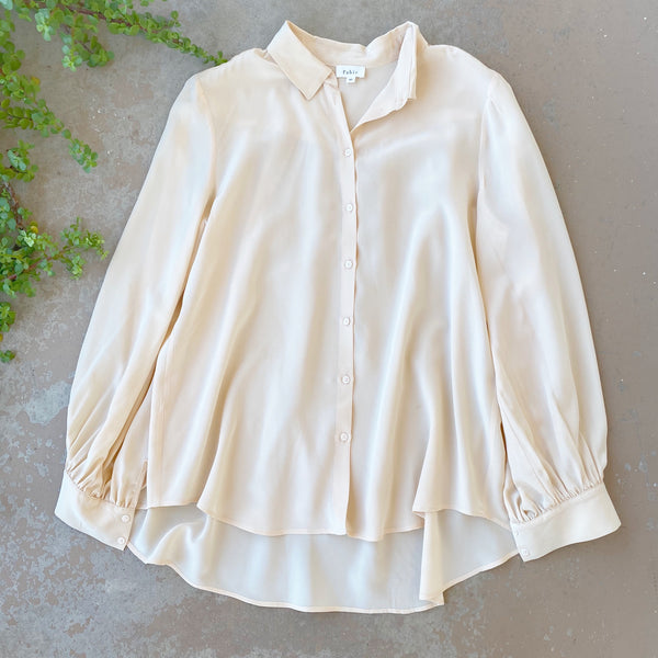Pablo Cream Silk Top, Size 40 (US 8)