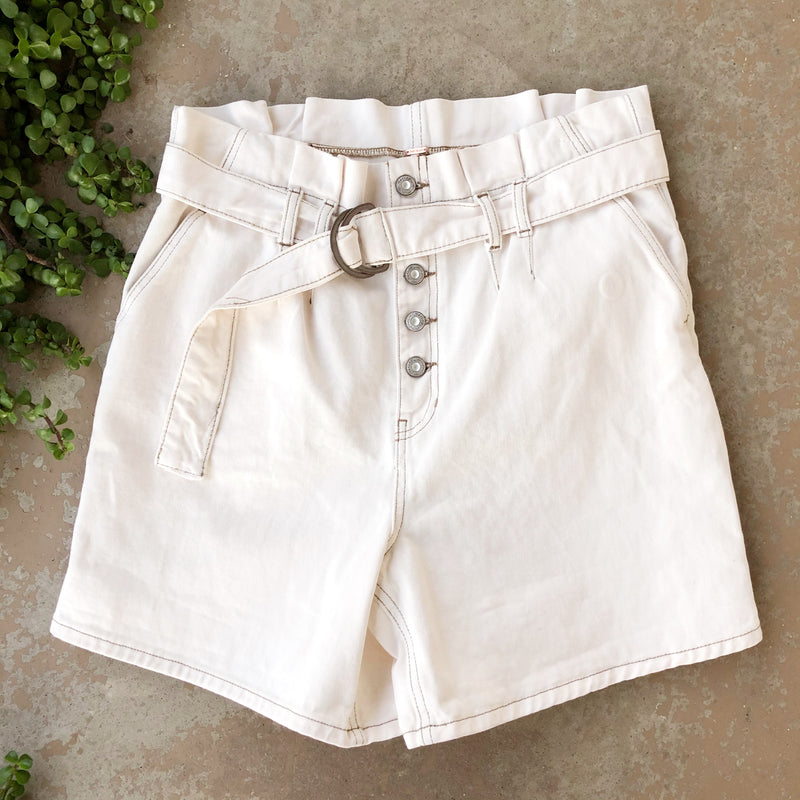 Free People Paper Bag High Waist Shorts | Size 8