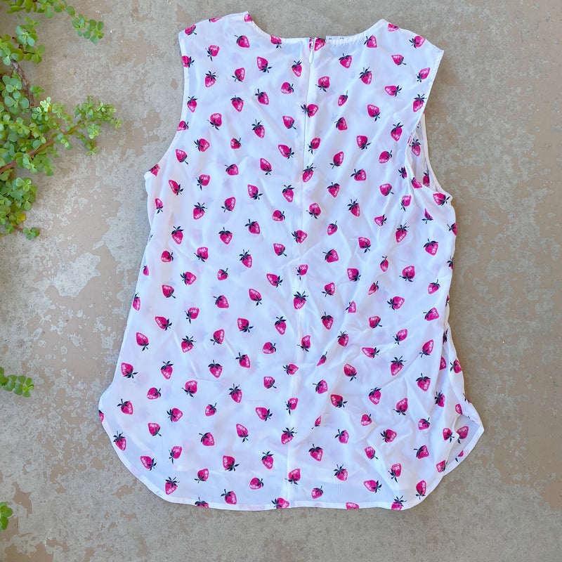 Equipment Strawberry Silk Top, Size Small