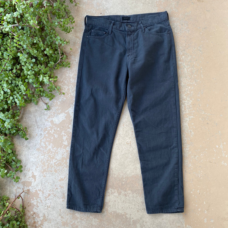 Mother The Dropout Jean in Black, Size 28